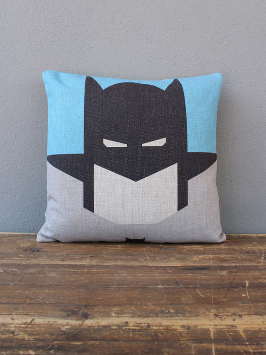 Batman Pillow - I love the simplified design of this Batman-inspired throw pillow. If you're trying to reconcile a significant other's decorating style and yours, this could be a good compromise.