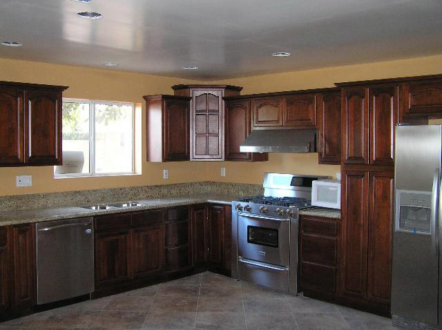 Cherry Walnut Kitchen Cabinets Home Design - Traditional - Kitchen Cabinetry - columbus - by ...