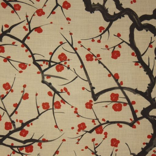 Clarence House Flowering Quince Wallpaper traditional-wallpaper