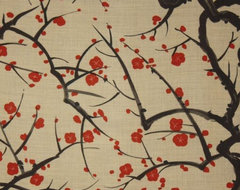 Clarence House Flowering Quince Wallpaper traditional wallpaper