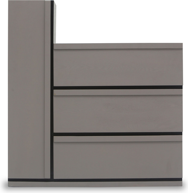 Lan 3 Drawers + 1 Tall Cabinet Storage Unit