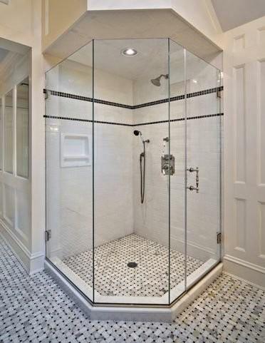 ShowerGuard Frameless Shower Enclosure contemporary-showers