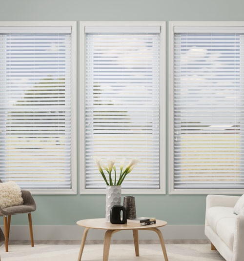 Kellie clements simply chic 2 1 2 inch faux wood blinds for 2 faux wood window blinds