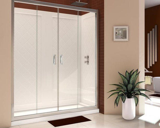 "DreamLine Butterfly 58"" - 59"" Bi-Fold Frameless Shower Door SHDR-4558720-01 - The space-saving Butterfly frameless bi-fold door provides convenient wide walk-in opening into your shower. Reversible for either left or right door opening this door is a great bi-fold shower door solution for your bathroom renovation project. The unique frameless design of the Butterfly door gives this door a custom glass look. For difficult installations, the Butterfly door also allows for out-of-plumb and width adjustment of up to 1"" on each side. With its flexible smart design and amazing looks the Butterfly frameless bi-fold shower door is the right answer for your bathroom renovation project."