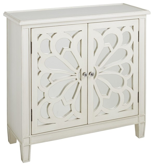 Zen Floral Cabinet Contemporary Accent Chests And