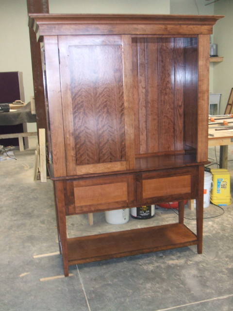 Cherry Entertainment Center traditional
