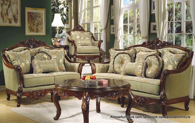 Traditional sofa sets living room sets for Traditional living room furniture