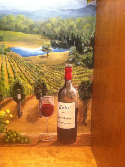 Wine Room Mural traditional