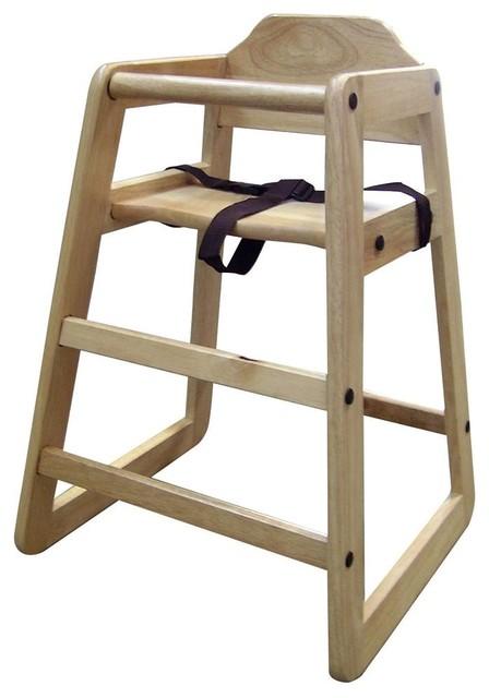 Toddler High Chair w Safety Seat Belt in Natu
