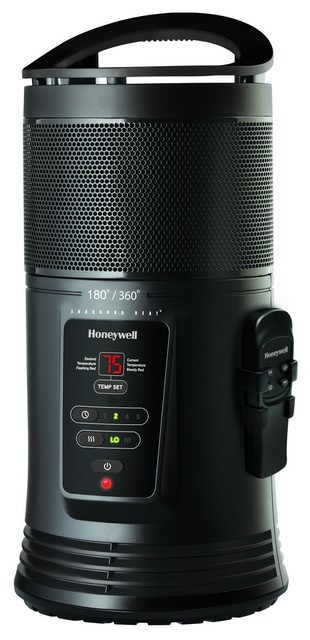Honeywell Ceramic Surround Heater Remote Black contemporary-space-heaters