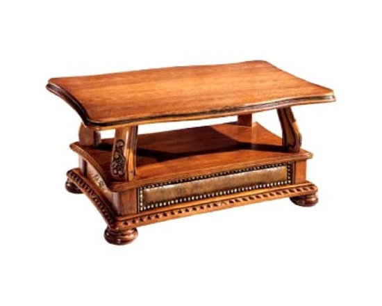 ESF Furniture - Oakman Coffee Table - ESF Furniture - This elegant Oakman Coffee Table will provide comfort and amazing style in your living space. Coffee table features classical shape covered with wood top.