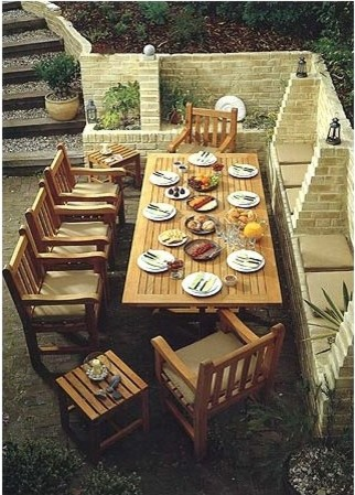 Arundel 9 Piece Dining Set contemporary-patio-furniture-and-outdoor-furniture
