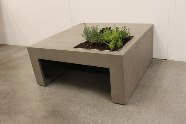 Table basse beton cire maison du monde for Salon de jardin en beton cire