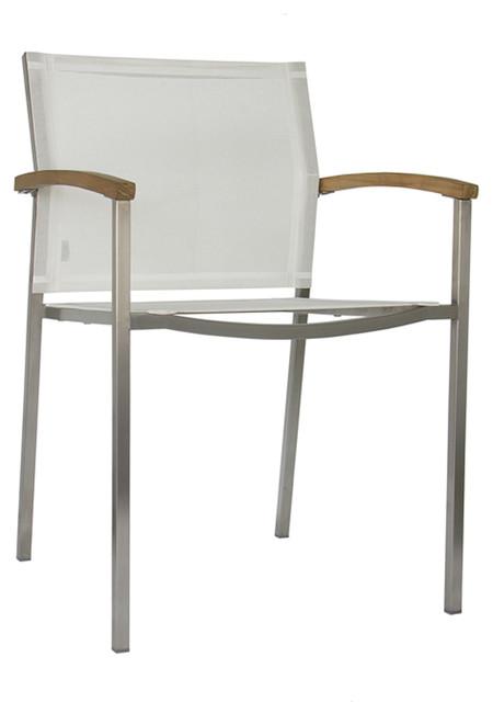 Mazzamiz Stainless Steel Stacking Armchair modern-outdoor-chairs