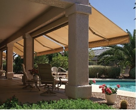 Retractable Awnings with Sunbrella Fabric traditional patio