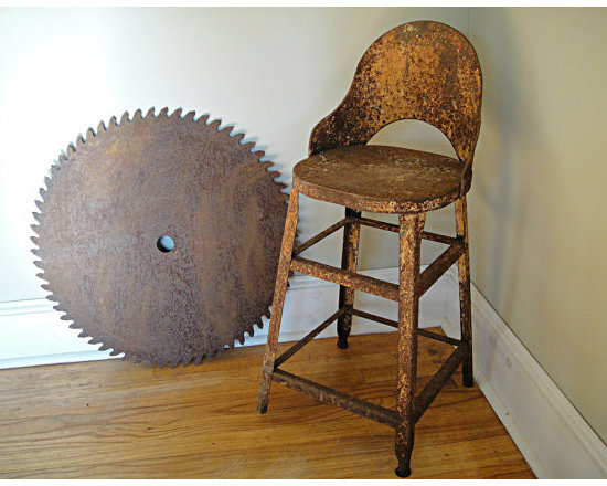 1910s Factory Industrial Salvage Chair by Rusty Nail Design -