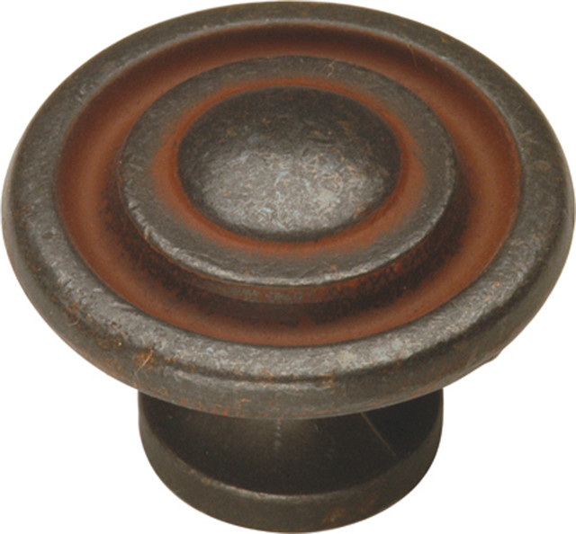 Manchester Rustic Iron Cabinet Knob - Traditional - Cabinet And Drawer Knobs - by Simply Knobs ...