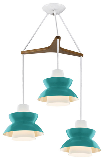 Astron Tri: Mid-Century Modern Chandelier eclectic-chandeliers
