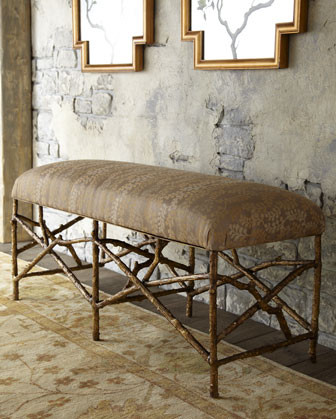 John-Richard Collection Twig Bench traditional-indoor-benches