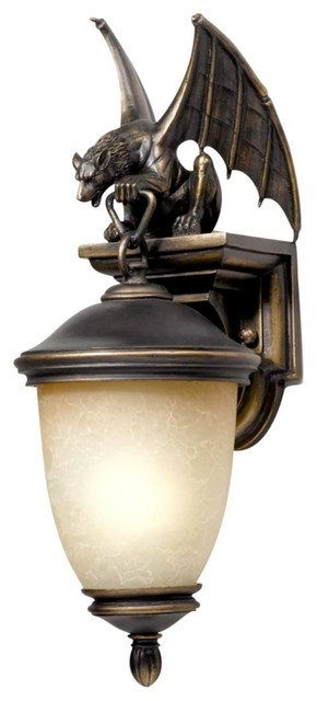 Themed Gargoyle Energy Efficient 20 High Outdoor Wall Light Traditional Outdoor Lighting