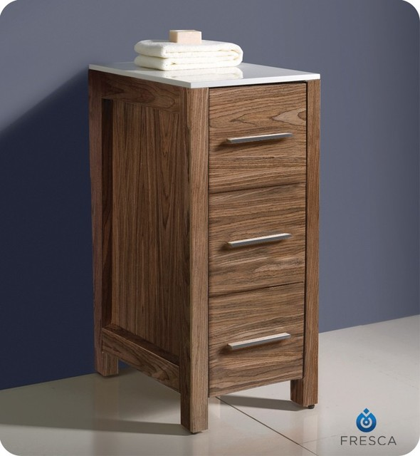 Fresca Torino 12 Walnut Bathroom Linen Side Cabinet