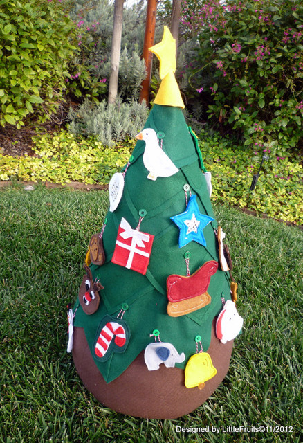 Kids' First Christmas Tree by Little Fruits contemporary-holiday-decorations