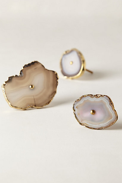 Swirled Geode Knob - Eclectic - Cabinet And Drawer Knobs - by Anthropologie