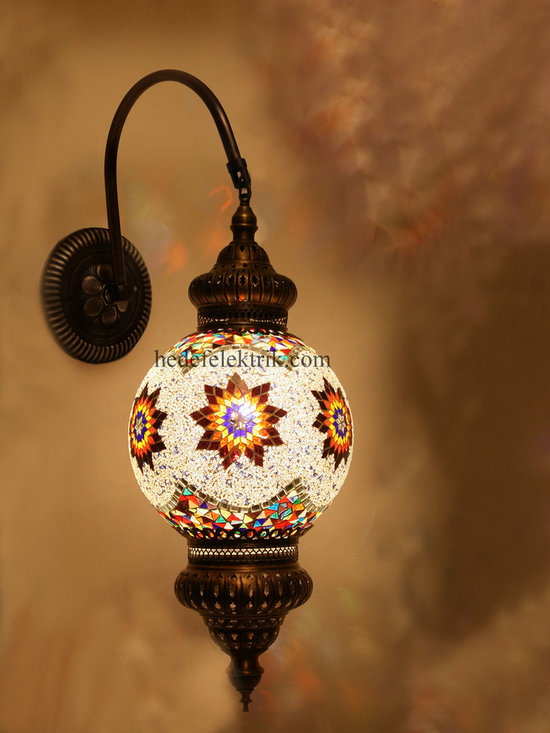 Turkish Style Mosaic Lighting Wall Sconce - Code: HD-20003_11
