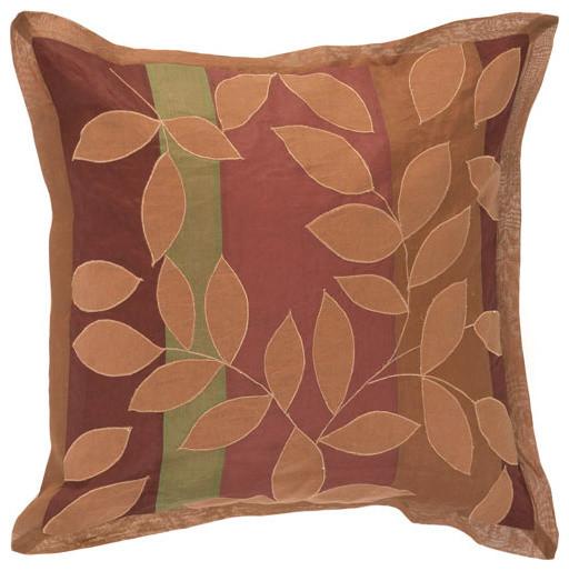 Burgundy Leaves 18 x 18 Pillow modern-bed-pillows