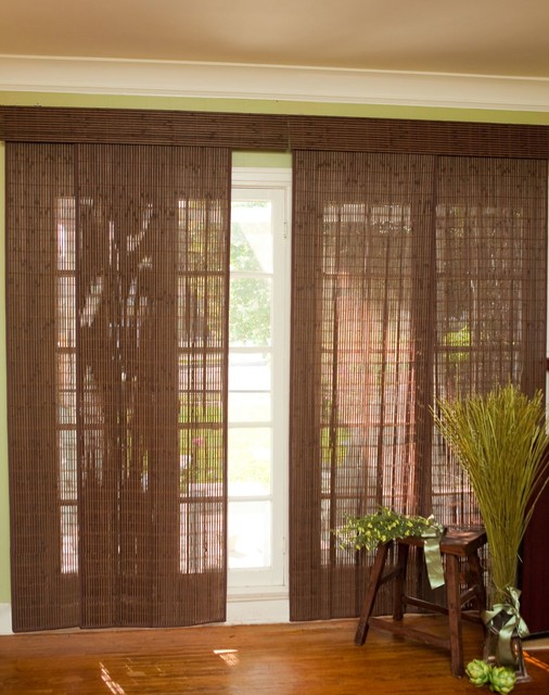 Bamboo Sliding Panel Track Blinds: Vertical Blinds And Panels