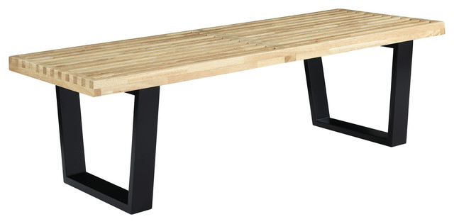 George Nelson Style 4 39 Platform Bench With Natural Wood