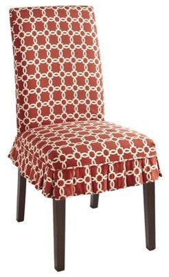 dana slipcover red geometric traditional dining chairs by pier 1 imports. Black Bedroom Furniture Sets. Home Design Ideas