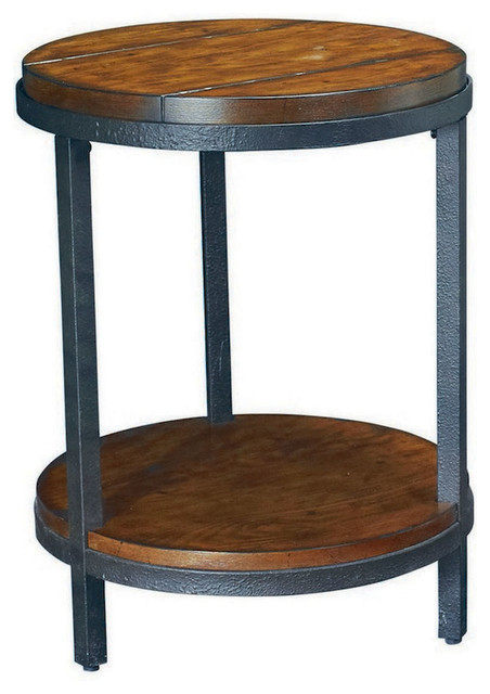 Hammary Baja Round End Table traditional-side-tables-and-end-tables