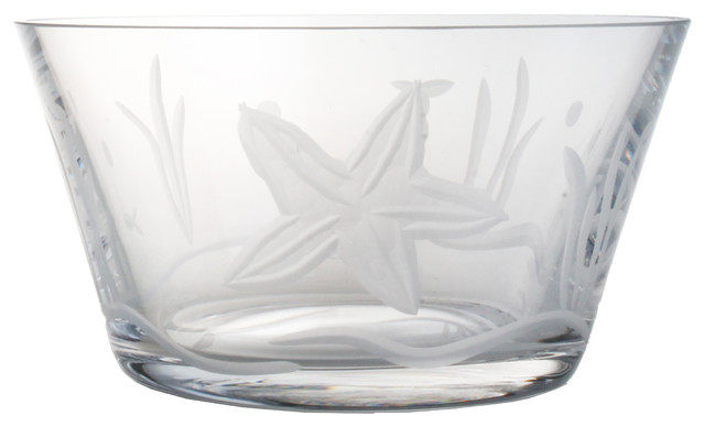 Starfish Clear Small Bowl 6 Set of 4 tropical-bowls