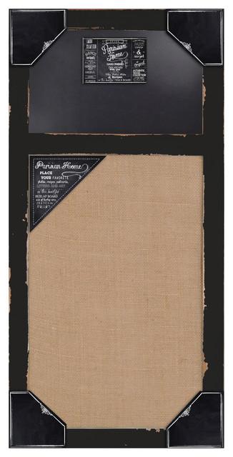 Distressed Wood Framed Wall Message Burlap Board & Chalk Bulletin Board farmhouse-bulletin-board