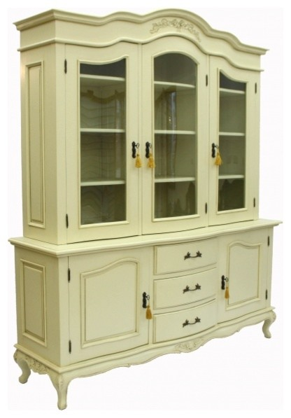 Large French Shabby Chic Display Cabinet - Modern - China Cabinets And ...