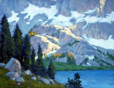 'Evening, Lake Ediza' Framed Oil Painting traditional-paintings