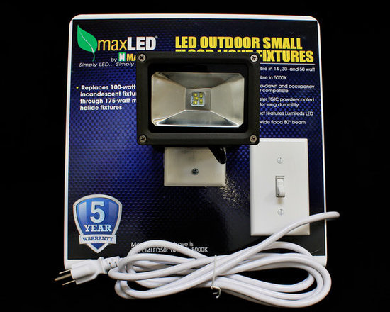 MaxLite - MLFL14LED50-Demo MaxLite LED MaxLED Flood Light, 14 Watts Bronze - The LED Small Flood Lights are efficient, energy saving replacements for metal halide and quartz halogen fixtures. The fixtures can mount at a broad range of angles with a yoke-style arm.