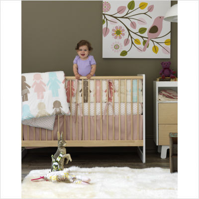 DwellStudio Paper Dolls Crib Bedding Collection modern baby bedding