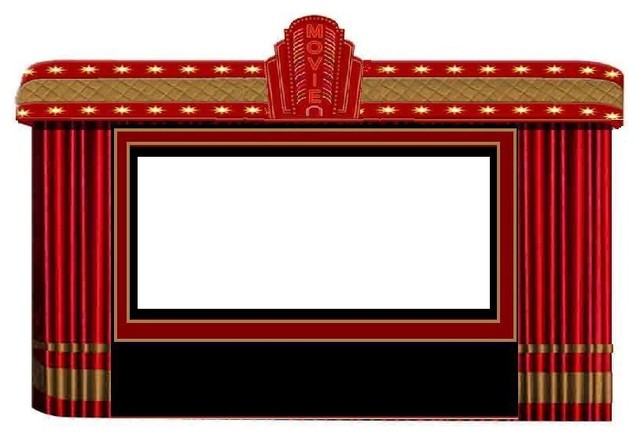 Theater Curtains Marquee With Projection Screen Modern Home Accessories