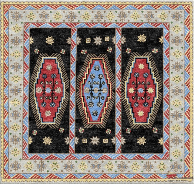 Southwest Geometric Custom Rug Designs contemporary-rugs