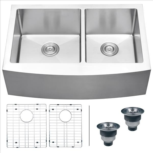 Ruvati RVH9201 Apron Front Kitchen Sink contemporary-kitchen-sinks
