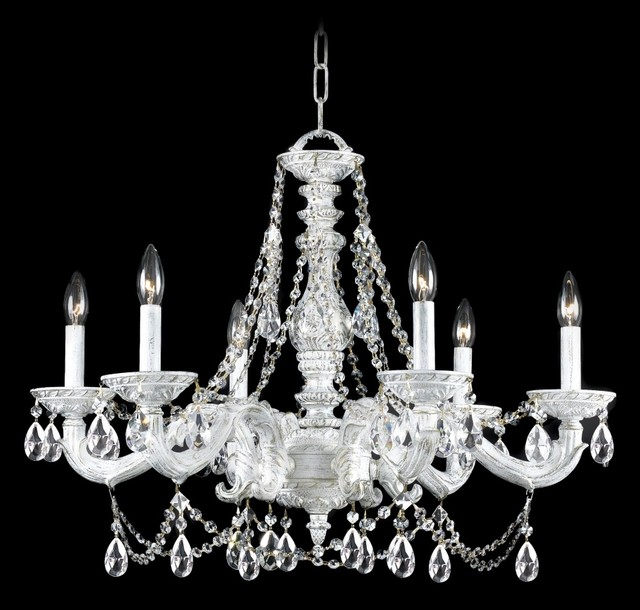 Crystorama sutton antique white 28 wide chandelier traditional chandeliers by lighting - Popular chandelier styles ...