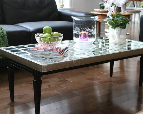DIY Mirrored Coffee Table - Quick and easy do-it-yourself mirrored coffee table.
