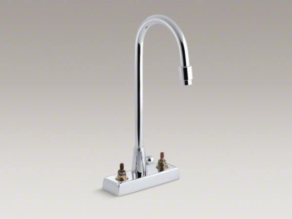 KOHLER Triton(R) centerset commercial bathroom sink faucet with gooseneck spout contemporary-bathroom-sink-faucets