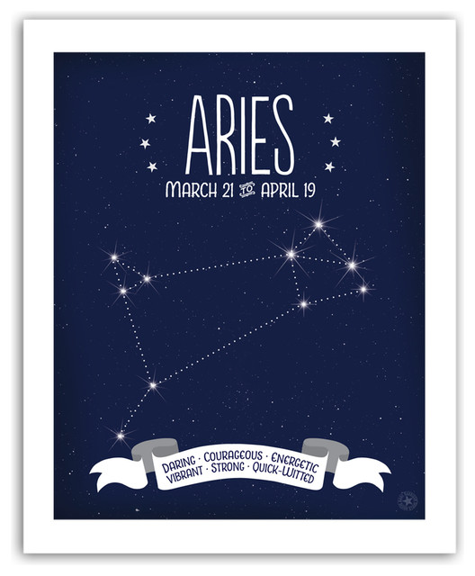 Aries Constellation Print, 11x14 eclectic-novelty-signs