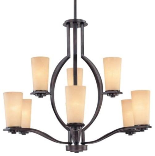 Lokken Two-Tier Chandelier contemporary-chandeliers