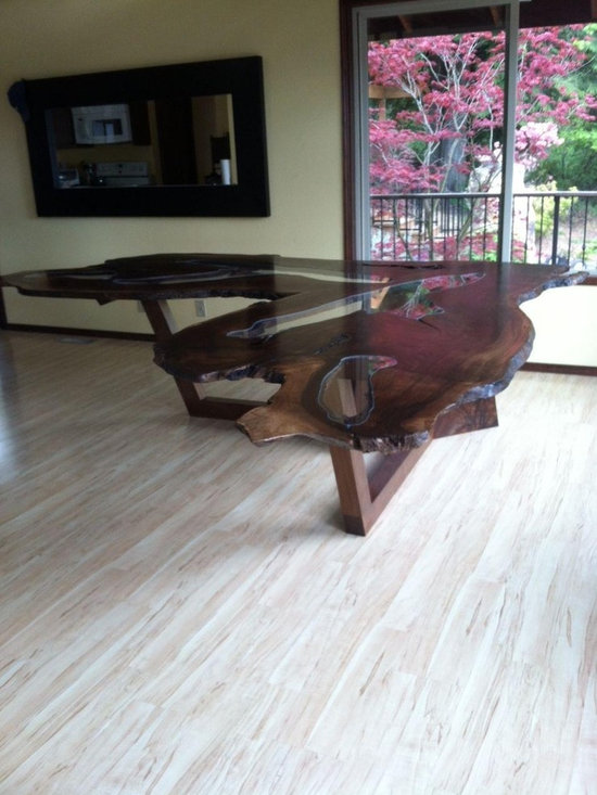 Natural Walnut Slab Dining Table -