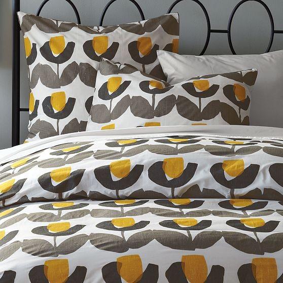 Blocked Tulip Duvet Cover + Shams modern-bedding