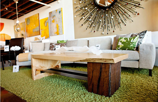 Torrey Pine & Euc Timber Coffee Table modern-coffee-tables
